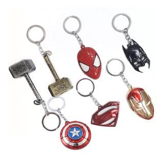 Llavero Super Héroes Acero Inoxidable Regalo Colección Full