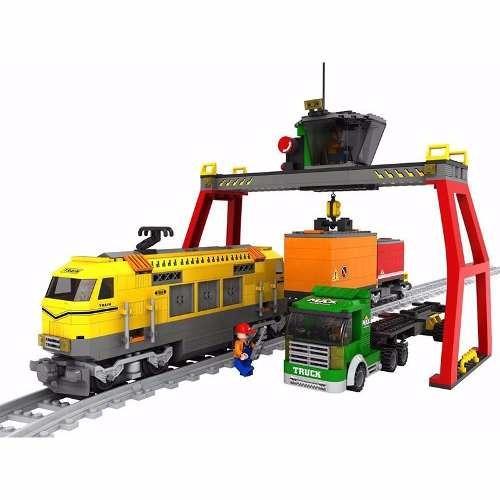 Trem De Carga Blocos Montar 792 Pçs Ausini Trains 25004 Lego