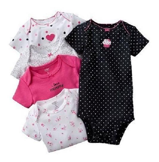 Carters Bodysuits Set 5 Piezas Recien Nacida Niña (18v)