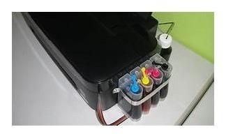Impressora Epson T 25 Com Bulk E Com Tinta Sublimatica