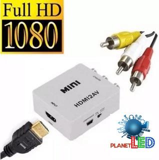 Convertidor Video Hdmi A Rca Av Tv Antigua Nuevo*garantia*