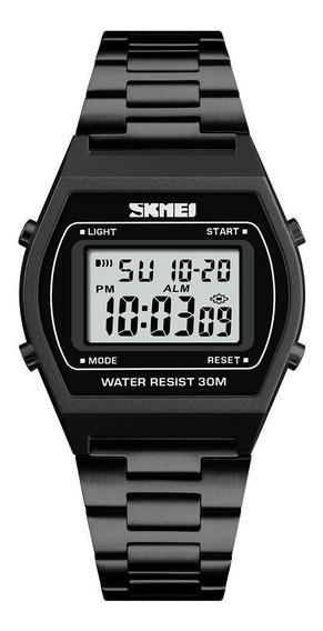 Relógio Unissex Skmei 1328 Digital Esportivo Vintage Preto
