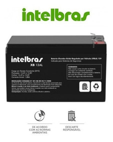 Bateria Alarme Cerca Eletrica Intelbras Xb12al