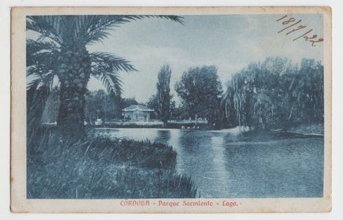 Cordoba Parque Sarmiento Antigua Postal