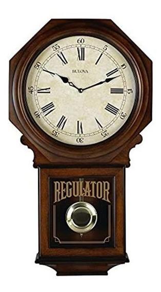 Bulova C3543 Ashford - Reloj De Mesa, Color Nogal