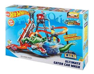 Pista Hot Wheels - Ataque Jacaré Lava Rápido - Mattel