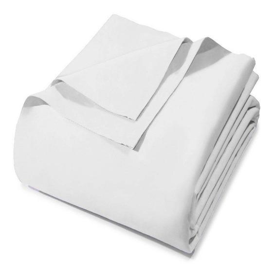 Kit 5 Lençóis Branco Sem Elástico Solteiro Hotel Clinica