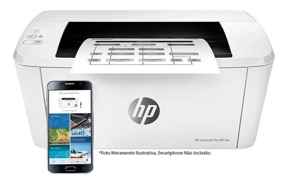 Impressora Hp Laserjet Pro M15w Com Wi-fi 220v-branca