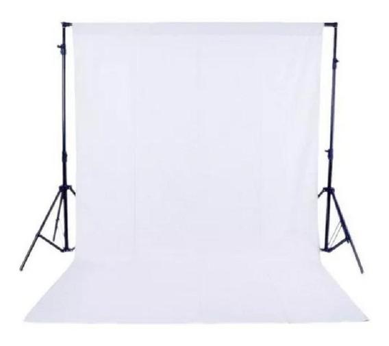 Fundo Infinito Fotográfico Branco Em Tecido Poliéster 3x8