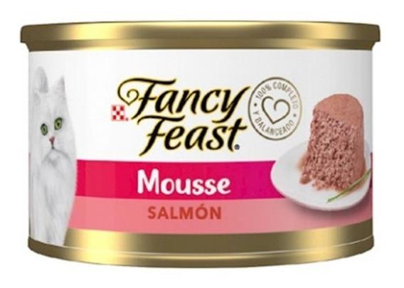 Alimento Para Gato Purina Fancy Feast Mousse De Salmón 85g