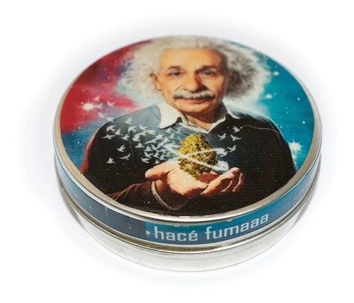 Imagen 1 de 3 de Pastillero Metálico Multiuso Lata Einstein Cogollo