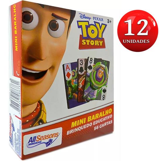 Prenda Festa Lembrancinha 12 Unid Mini Baralho Toy Story