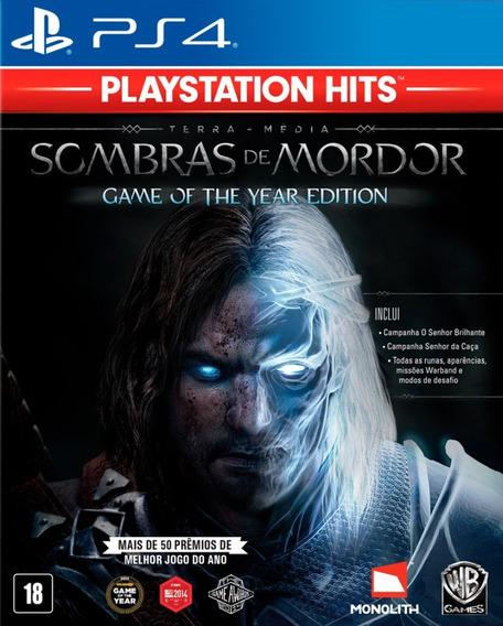 Sombras De Mordor Game Of The Year Edition Em Português Ps4