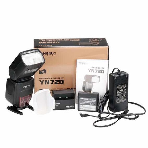 Flash Yn720 Com Bateria De Lítio Para Canon Ou Nikon