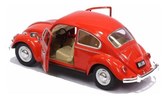 Fusca Sedan 1967 1300 Vermelho Escala 1/24