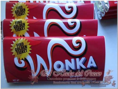 Imagen 1 de 8 de 10 Chocolate Wonka Personalizable Souvenir Cumple Regalo