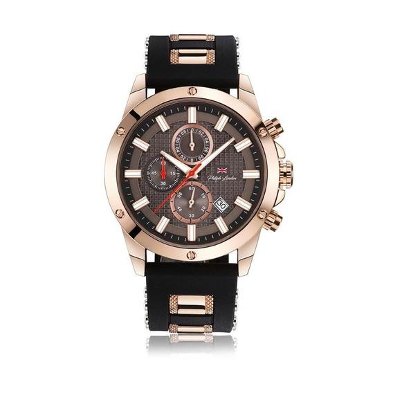Relógio Philiph London Masculino Ref: Pl80068612m Mr Rosé