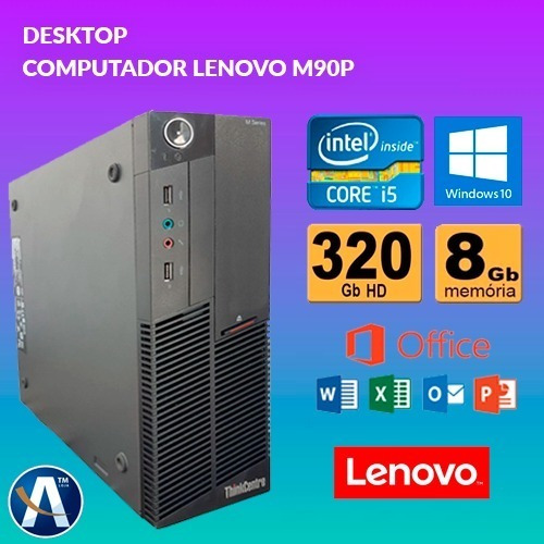 Desktop Computador Lenovo M90p Core I5 - 8gb Ram Hd 320gb