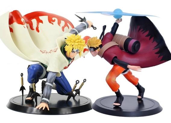 Naruto E Minato 2pçs Action Figure Boneco Brinquedo