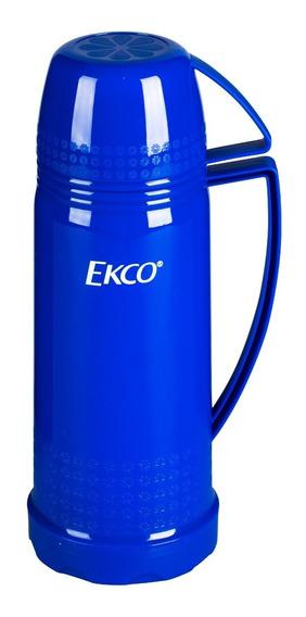 Termo 450 Ml. Ekco Classic De Ampolla De Vidrio Color Azul