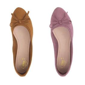 Zapatos Balerinas Dama Kit De 2 Pares Super Precio!! Morado