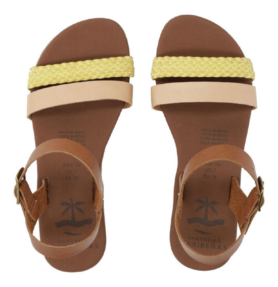 Sandalias Caribeñas Moda Playa Dama Aruba Artesanal Fab