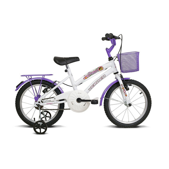 Bicicleta Infantil Aro 16 Breeze Branco E Lilas Verden Bikes