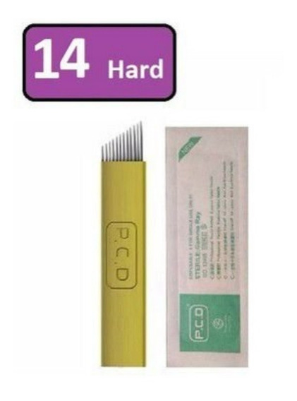 Agujas Microblading Filo 12/14 Hard X 10 U