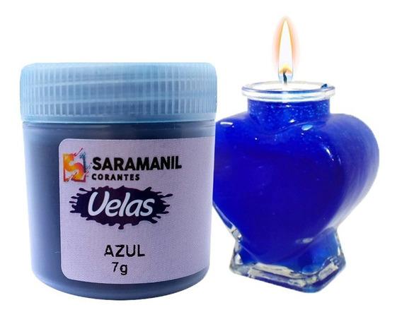 Corante Vela Saramanil Azul Anilina A Óleo
