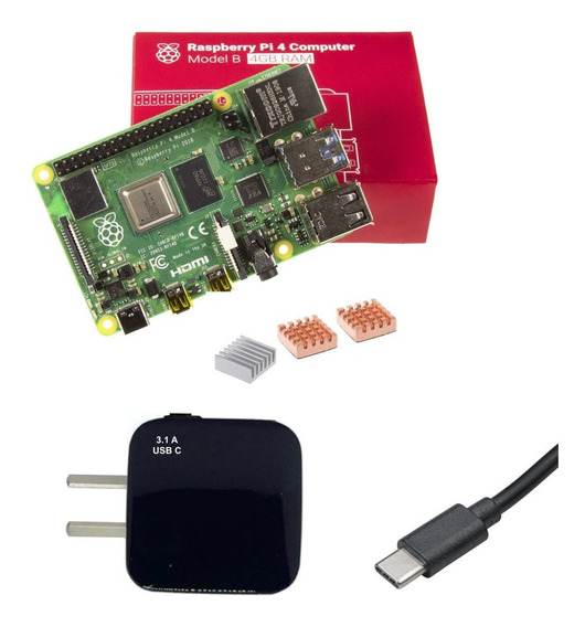 Starter Kit Raspberry Pi 4 B 4gb Uk + Dis + Fue 3a C Emakers
