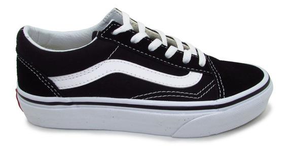 Tenis Vans Old Skool Kids Vn000w9t6bt Black True White Lona