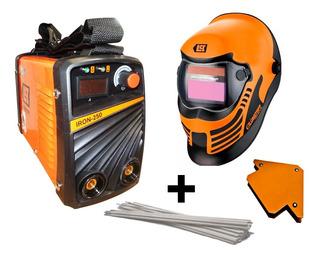 Soldadora Electrica Inverter Iron 250 + Mascara + Elec +escu