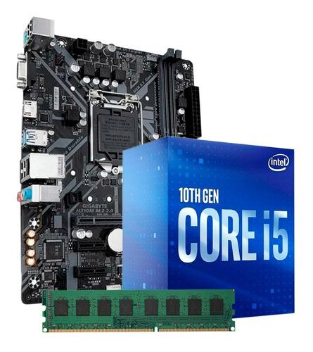 Combo Actualizacion I5 10400 8gb Ddr4 + Mother H410m Pc