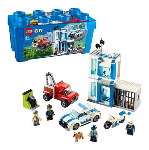 Lego Policia Lego City 60270 301 Pzs Carcel Ladron Moto