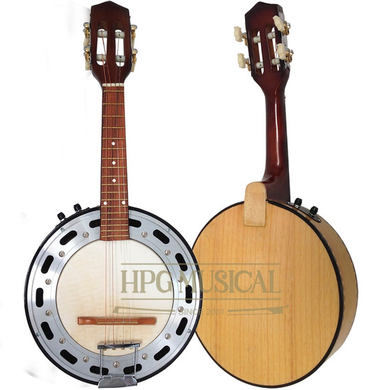 Banjo Elétrico Acústico Clave Sonora Natural Claro