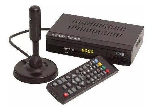 Kit Conversor De Tv Digital Gravador Usb + Antena Interna