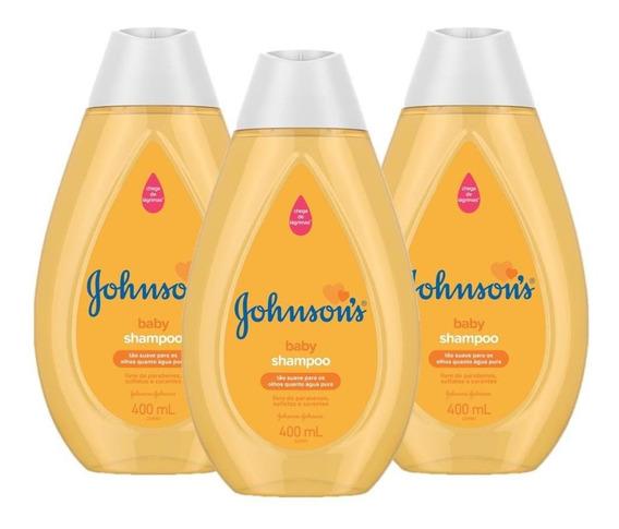 Kit Com 3 Shampoos Johnsons Baby Regular 400ml