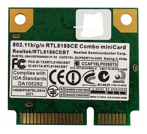 Mini Placa Rede Pci Wireless Rtk-rtl8188ce Frete Grátis