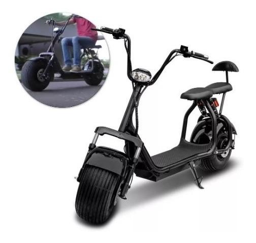 Patinete Moto Bike Elétrico Scooter Hoverboard 1000w Preto