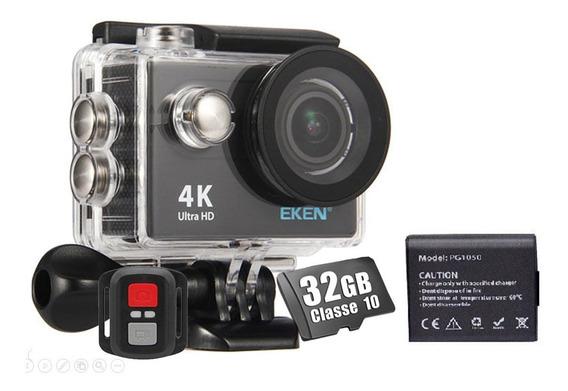 Câmera Eken H9r 4k Original Wifi Controle + 32gb + Bateria