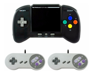 Retro Duo Portable V2.0 + 2 Controles Juega Nes Snes Supaboy