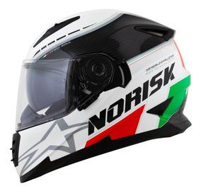 Capacete Norisk Ff302 Italy Grand Prix Com Viseira Solar