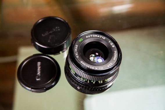 Lente Analógica 28mm F2.8 _ Macro Monut Canon Fd