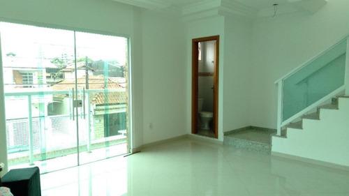 Casa Sobreposta Alta Com 3 Dormitórios À Venda, 116 M² Por R$ 660.000 - Macuco - Santos/sp - Ca0747
