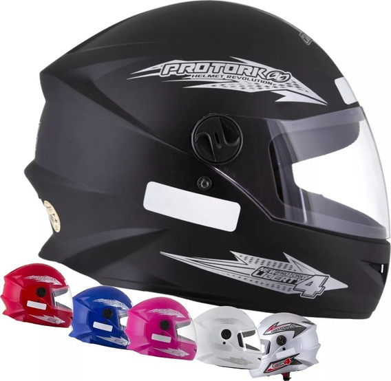 Kit 2 Capacetes Fechado Moto Masculino/feminino Barato