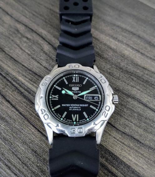 Relógio Seiko 5 Sports 7s36 00b2 Automático Preto Perfeito.