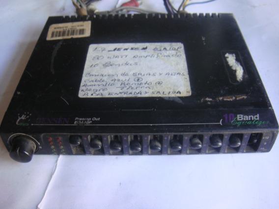 Equalizador Jensen 10 Bandas Amplificado Eqa10p 80 Vatios