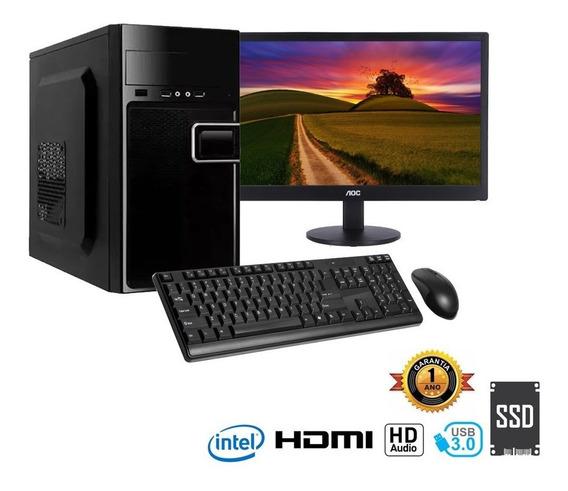 Computador Infoparts Dualcore J1800, 4g,ssd120, Monitor 18.5