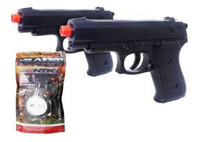 Kit 2 Pistola Airsoft Vg P99 Mola 6mm+ 2000 Esferas Bbs