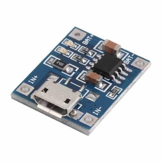 Modulo Cargador De Baterías De Litio 18650 Micro-usb 1a 5v